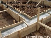 Какой ширины должен быть фундамент