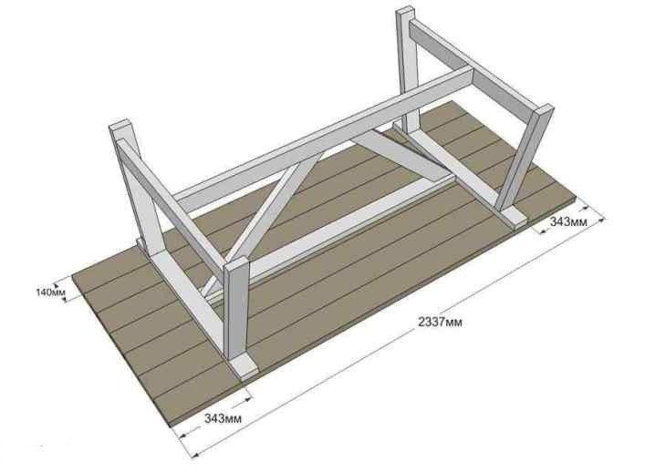 Садовый стол из дерева своими руками