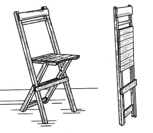 Складной стул из дерева своими руками