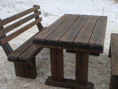 Стол с прямыми ножками из дерева своими руками